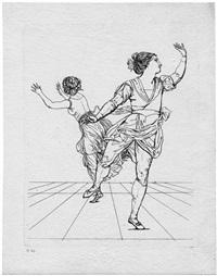 das tänzerpaar vigano by gottfried (johann gottfried) schadow