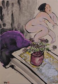 紫沙发 by liang ying