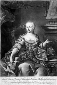 bildnis der maria theresia (after martin van meytens) by pieter van bleeck
