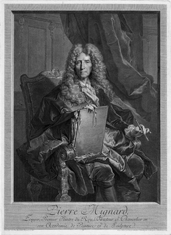 bildnis des malers pierre mignard after hyacinthe rigaud 5 others 6 works by georg friedrich schmidt