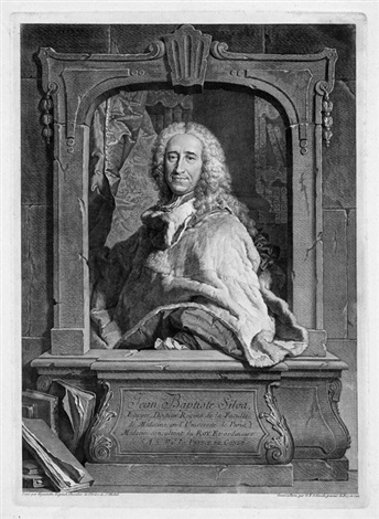 bildnis des humanmediziners jean baptiste silva after hyacinthe rigaud 5 others 6 works by georg friedrich schmidt