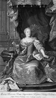 bildnis der maria theresia (after martin meytens) by giuseppe camerata