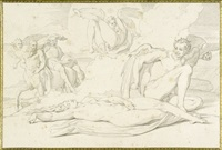 das leben einer hexe (portfolio of 10 by h. merz and c. gonzenbach) by bonaventura genelli