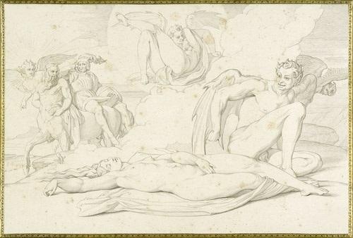 das leben einer hexe portfolio of 10 by h merz and c gonzenbach by bonaventura genelli