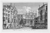 campo di san salvatore, pl. 34 (after canaletto) by antonio visentini