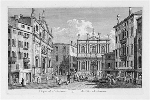 campo di san salvatore pl 34 after canaletto by antonio visentini