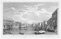 da fiscari e lin all'accademia di belle arti, pl. 14 (after canaletto) by antonio visentini
