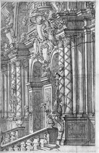 entwurf zu einer reich dekorierten bühnenarchitektur by carlo antonio buffagnotti