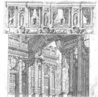 eine loggia und eine geräumige säulenhalle (after ferdinando galli bibiena) by carlo antonio buffagnotti
