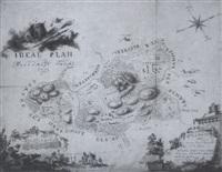 ideal plan der herrschaft furchstein (gegend bei dillingen) by franz badstieber
