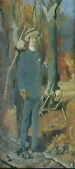 sjlavportratt med skelett by verner von heidenstam