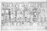 terrazze e balconi (4 works after ferdinando galli-bibiena) by carlo antonio buffagnotti