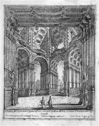 bühnenentwurf für das teatro degli accademici ardenti in bologna (after francesco bibiena) by carlo antonio buffagnotti
