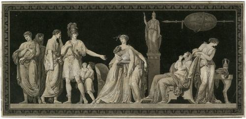 la constance de coriolan die standhaftigkeit des coriolan after jean guillaume moitte by jean françois janinet
