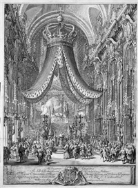 das pompe funebre der prinzessin maria clementina sobieska in santi xii. apostoli in rom by baldassare gabbuggiani