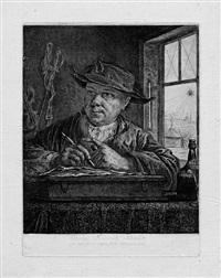 selbstporträt georg friedrich schmidt (mit der spinne) by georg friedrich schmidt