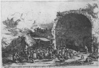 prospetto e veduto a cafarella. das fest bei der grotte der egeria in rom by jan van ossenbeeck
