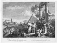 cicero entdeckt das grabmal des archimedes (after francesco zuccarelli) by giovanni volpato