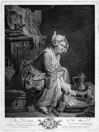 die wäscherin (after jean baptiste greuze) by jerome danzel