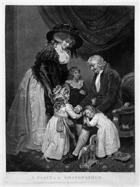 a visit to the grandfather (after john raphael smith) by william ward