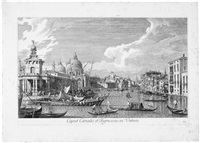 ansicht des canal grande am eingang zur stadt, pl. vi (from prospectus magni canalis venetiani, after canaletto) by antonio visentini