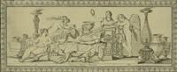 königin luise auf dem sterbebett zwischen clio, mors, den parzen und einer allegorie des ruhmes by carl daniel bach
