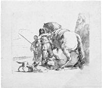 der kavalier bei seinem pferd by giovanni battista tiepolo