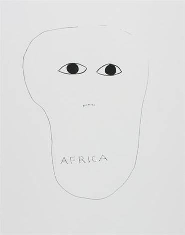 picasso africa from hommage à picasso by walter de maria