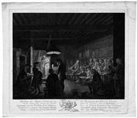 afbeelding der teeken akademie: die maler in der zeichenstunde by reinier vinkeles