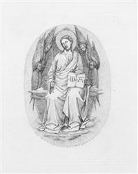 christus als weltrichter, nach einer miniatur des 14. jahrhunderts by florian grospietsch