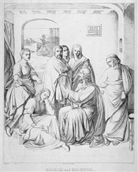 maria und martha (by hans jakob oeri) by johann friedrich overbeck