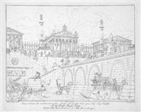 raccolta / di prospettive serie, rustiche, e di paesaggio / ... inventate (bk w/102 works) by antonio basoli