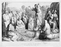 johannes predigt in der wüste (by franz xaver winterhalter) by johann friedrich overbeck