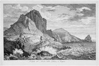 veduta del monte della libera a capri (from italienische ansichten) by florian grospietsch