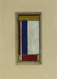 design for a stained glass window by vilmos huszar