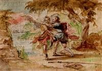 der kampf jacobs mit dem engel by johann jacob eybelwieser