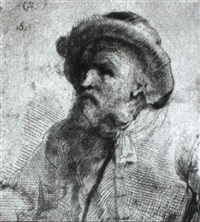 alter mann mit m_tze by constantijn daniel van renesse