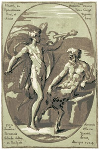 apoll und marsyas (after parmigianino) by antonio maria zanetti