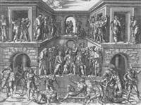 das martyrium des heiligen laurentius by giulio sanuto