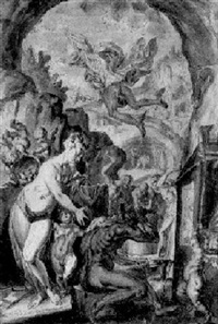 venus in der schmiede des vulkan by johann mathias kager