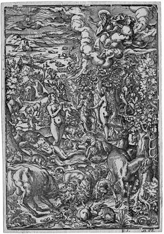 adam und eva im paradies by jost amman
