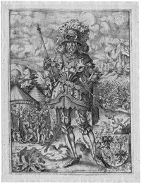 bernardus pipini frater, rex italiae (from icones ducum bavariae) by jost amman