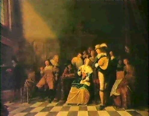 musicerande sallskap allegori over de fem sinnena by adriaen lucasz fonteyn