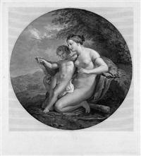 die erziehung amors in einer landschaft (after pelagio pelagi) by mauro gandolfi