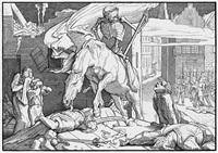 auch ein todtentanz aus dem jahre 1848 (portfolio of 6 w/title pg. & text) by alfred rethel