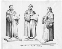 martins luthers standbild in wittenberg (+ 2 others; 3 works) by gottfried (johann gottfried) schadow