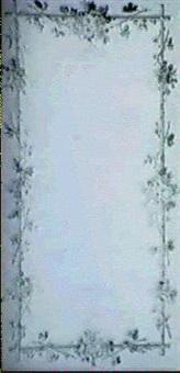 dekorativt maleri i rosa och gratt med blommor pa      bamsbustavar- vaggfalt by carl fredric torsselius