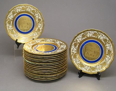 cabinet plates set of 18 by d w porzellanmanufaktur co
