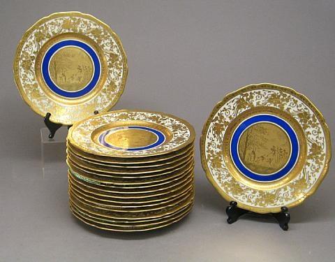 cabinet plates set of 18 by d w porzellanmanufaktur co