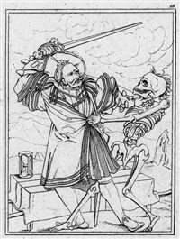 der totentanz (portfolio of 49 w/title pg. after hans holbein the younger) by johann gottfried abraham frenzel